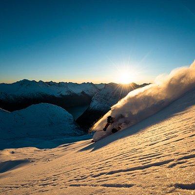 Skiing in Sunnmøre.