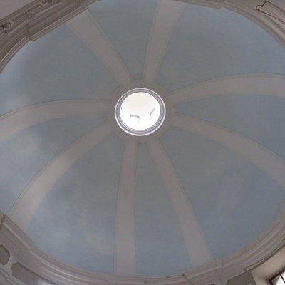 La volta circolare della chiesetta