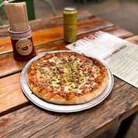 Sausage & Pesto Pizza