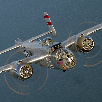 """The B-25 """"Panchito"""" has become world famous in the community of Warbirds through its many appearances at airshows, Doolittle Raid anniversaries, magazine articles, TV appearances and recently, the only B-25 in the world on which qualified pilots can train."""