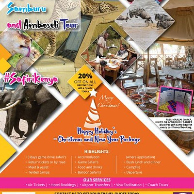 Inland Kenya Tours. Come enjoy Wildlife Safari and pristine beaches of the best resorts in East Coast of Africa with us.