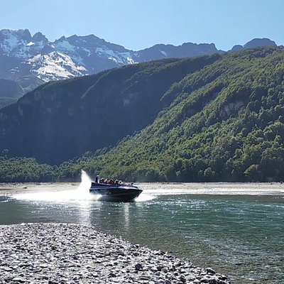 Navigating the channels of the Dart River on a Wilderness Jet tour