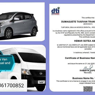 Dumaguete Rent A Van with Driver Tm: 09361700852