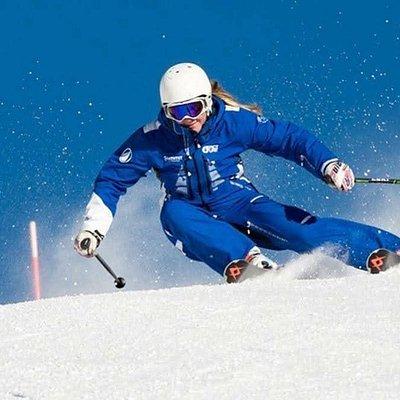 Ski instructor Phoebe Griffiths