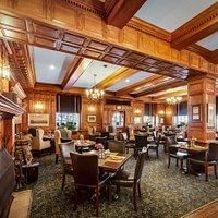 The cozy Tavern inside the historic Hawthorne Hotel.