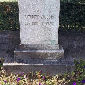 Statue Edouard Secretan - socha- pomník