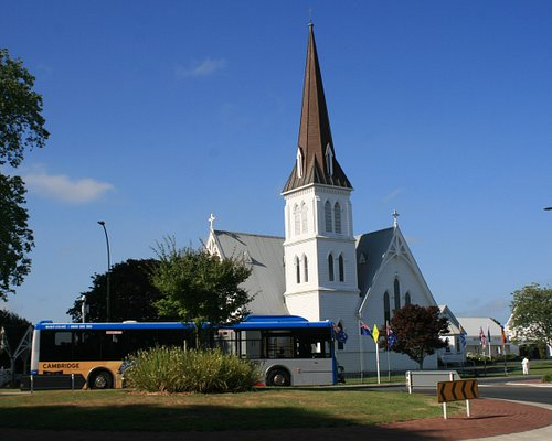 St Andrew's Anglican Church is near the town centre An old wooden church from 1877