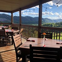 Enjoy a beautiful 270 degree view of one of the most scenic sections of the Appalachian mountains from our comfortable patio.