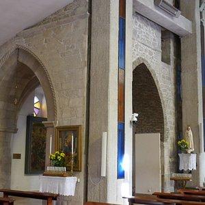 Riccia, la cappella con archi gotici nella chiesa di S. Maria Assunta