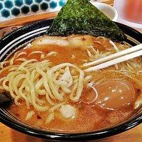鮮魚かつお出汁麺+味玉