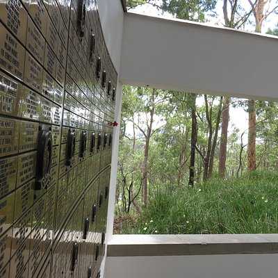 """A Reflective Place Great resource:- YouTube history on the  """"Australia National Remembers Freedom Wall"""" See    https://www.youtube.com/watch?v=CSzDWd56uGU... A gallery of images of the Wall. #TheirNameLivethForEvermore #NationalFreedomWall #AnzacDayPrecinct Photos © Peter Rasey 2020"""