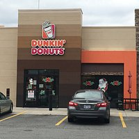 The entrance to the Dunkin'.