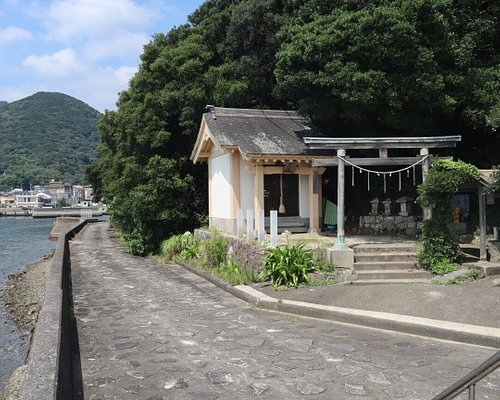 Little shrine at the port of the island