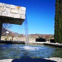 fontana in inverno