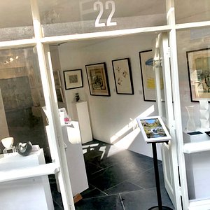 Gallery premises at 22 Fore Street, St Ives.