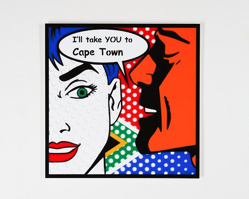 Each colour used in our Pop Art are cut separately from plexiglass and only upon layering them together can we appreciate the image designed.