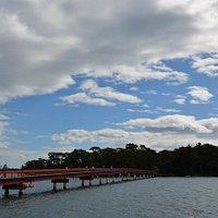陸地側から見た橋
