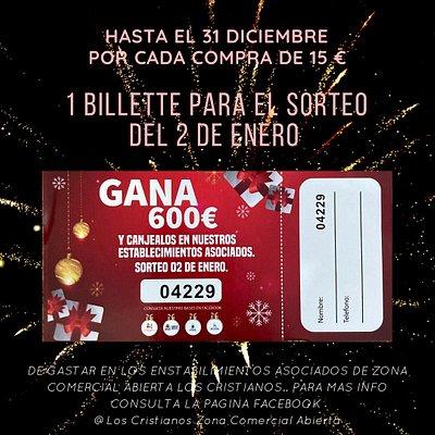 SORTEO NAVIDAD 2020 gana  600 euros!!