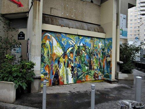 La fresque au n° 39 rue Saint Blaise