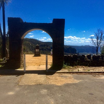 a short drive to the lookout