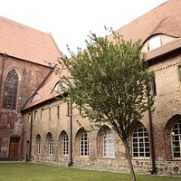 Prenzlau, Brandenburg, Germany, Dominikanerkloster - eastern wing and monastic church - the oldest part of the monastery compound.