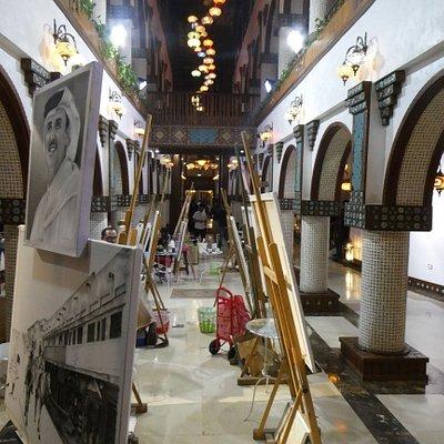 the central hallway
