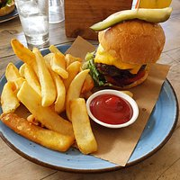 Delicious burger with so much flavour, and generous fries that were just perfect.