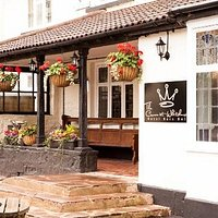 The Crown pub and tandoori spice..at the foot of Symonds Yat, one of the most scenic spots in England