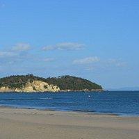 浜からの風景