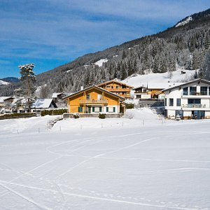 Staying at this beautiful village Kleinarl in Austria with amazing views from our apartment Bernkarkogel at Mountainvista