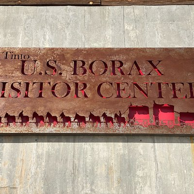 Exterior sign at the U.S. Borax Visitor Center