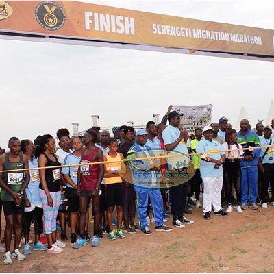 Hundreds of 21Km runners . SMM 2020