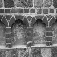 Prenzlau, Brandenburg, Germany, Holy Spirit Church - decorative niches.
