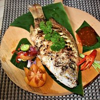 Fresh whole snapper from the sea.feels our fresh seafood with your family,friends and your love.your holiday in lembongan will be interesting if you can eat all fresh seafood from this island.