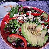 Greek Salad, served under the igloo at CBS Sporting Club, Foxborough MA