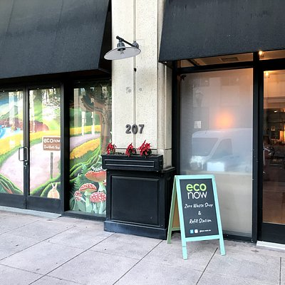 The Eco Now storefront located in Anaheim, CA. Up the street from Disneyland, Angels Stadium, and the Duck's Honda Center!