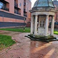 The William Roscoe Memorial in Roscoe Gardens