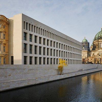 Süd- und Ostfassade des Humboldt Forums © SHF / Foto: Christoph Musiol