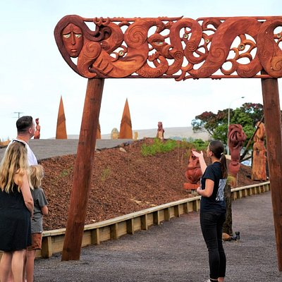 Engage in stories about our ancestors and the ancient realms of Kupe, told through carvings and the surrounding land.