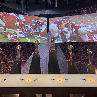 See all six Patriots Vince Lombardi Super Bowl championship trophies and rings at the Patriots Hall of Fame presented by Raytheon Technologies.