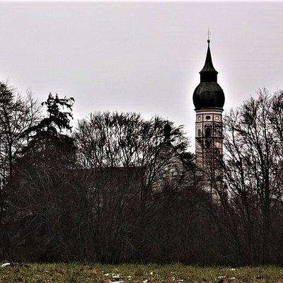 Das Kloster Andechs in Sicht! Wir haben es geschafft!
