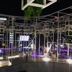 Seoul Station Rooftop Garden at night