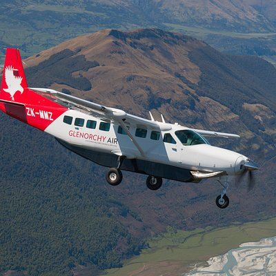 Our brand new Cessna Grand Caravan making its way across the Dart River