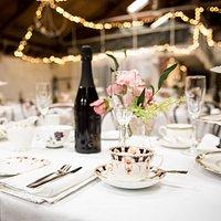 The Bursledon Brickworks set for an Afternoon Tea wedding celebration for 100 people