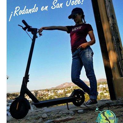 Electric Rider.  Fun in SJD #bajavolt #electricscooter #SJD #BAJA #bajarentals #whattodoinbaja #electriclife