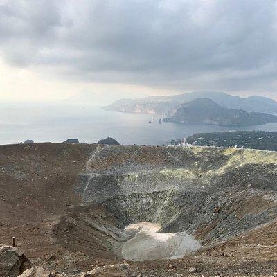 Il cratere di Vulcano.