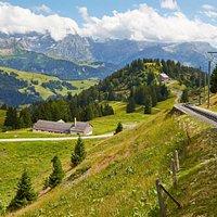 Train Bex-Villars-Bretaye en été