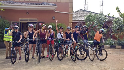 Moments before a ride to Nakiwogo and a visit to other historical attractions in Entebbe