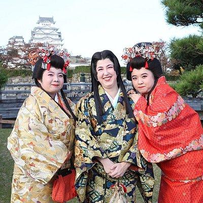 時代劇衣装で姫路城周辺を散策