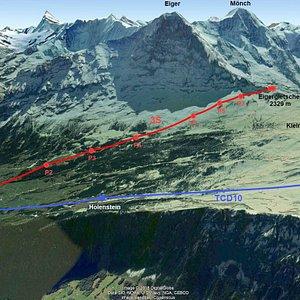 Eiger Express - le téléphérique le plus moderne d'Europe de Grindelwald (Grund) au glacier de l'Eiger (Eigergletscher)
